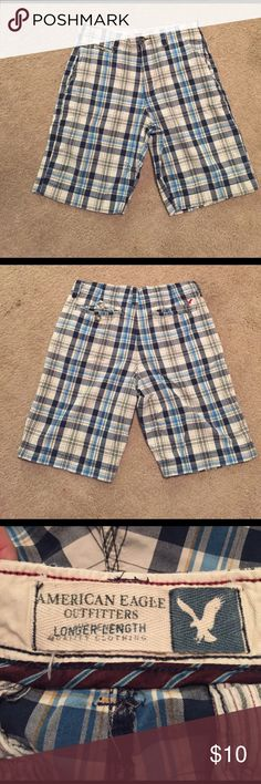 Plaid Shorts Men's American Eagle Plaid Shorts. In excellent condition! American Eagle Outfitters Shorts Flat Front