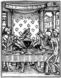 """Hans Holbein the younger - The King from """"The Dance of Death"""" published 1538"""