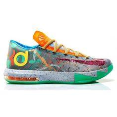 Authentic 669809-500 Nike KD VI Premium Hoop Purple/Urgent Orange-Shark $129.00