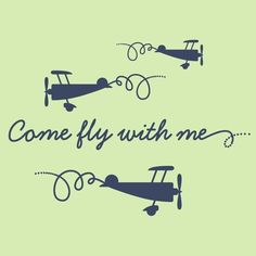 Airplane Decals Come Fly With Me Wall Stickers by graphicspaces, $40.00