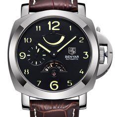 Mechanical Watches Men Sports Army Military Watches BENYAR Waterproof 30M Fashion Luxury Brand Wristwatches Relogio Masculino #Affiliate