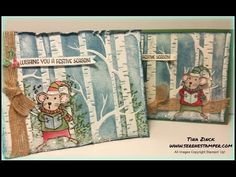 The Serene Stamper: Sneak Peek: Merry Mice Woodland Card