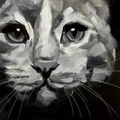 "Daily Paintworks - ""Cat Study"" - Original Fine Art for Sale - © Elizabeth Dawn Johnston"