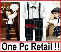 Free Shipping!!1 Pc/ lot Baby Boy gentleman design romper long sleeve bodysuits infants soft cotton jumpsuits kids plaid wear on AliExpress.com. $11.80