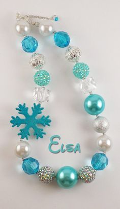 Frozen inspired necklace Elsa or Anna by RazzBerryBeads on Etsy