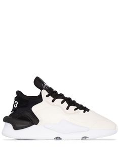 Kaiwa Sneaker In Technical Fabric And Butter And Black Leather In Core White/black Y3 Sneakers, Nike Huarache, White Leather, Air Jordans, Active Wear, Women Wear, Lace Up, Mens Fashion, Heels