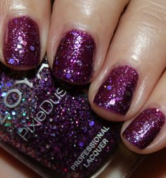 Zoya Wishes Winter / Holiday 2014 : Thea - A dark amethyst MagicalPixieDust / holographic hex glitter and orchid micro-glitter