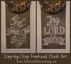 Freehand Chalk Art - Step By Step Instructions From A Novice
