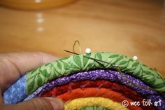 Share this: EDIT: Stop by HERE to see another Rag Bowl I was working on. I've already mentioned that Pixie has a birthday coming up and all the gifts I'm making for her have a rainbow theme. When thinking about all the little things I'll be crafting, I thought (dangerous past time, I know 🙂 …