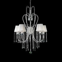 Z-Lite�5-Light Palomar Chrome Crystal Accent Chandelier.....I really like this !!