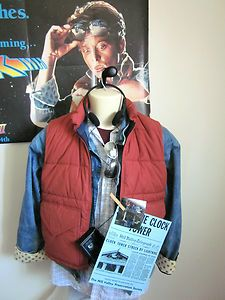 #BACK #TO #THE #FUTURE #MARTY #MCFLY #COSTUME MEDIUM VEST DENIM JACKET #HALLOWEEN