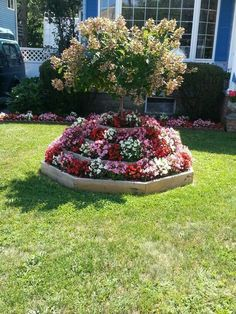 Flower arrangements are spectacular, turn your backyard or garden into a great oasis and put your outdoors in the spotlight. Garden Yard Ideas, Diy Garden Decor, Lawn And Garden, Garden Projects, Garden Stones, Front Yard Landscaping, Landscaping Ideas, Small Gardens, Flower Beds
