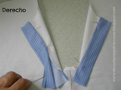 decosturasyotrascosas.com Sewing Hacks, Sewing Tutorials, Sewing Projects, Dress Sewing Patterns, Clothing Patterns, Sewing Collars, Henley Shirts, Fabric Manipulation, Learn To Sew