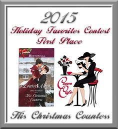 """Congratulations to """"His Christmas Countess"""" on capturing """"First Place"""" in Cover Cafe's Holiday Favorites Cover Contest. See how all ten covers finished on the results page.  http://covercafe.com/Holiday/2015HF/HOL-res15.html"""