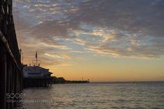 The sun is coming by tom_blumer  sunrise ocean California Pacific Santa Barbara Coast Stearns Wharft The sun is coming tom_blumer