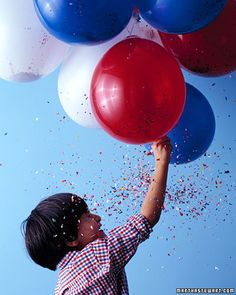 "Confetti Balloon ""Fireworks"".  Safer than the exploding kind and the kids would think this was super fun!"