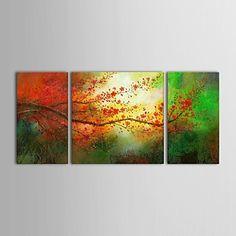 【今だけ☆送料無料】 アートパネル  静物画3枚で1セット グリーン オレンジ 枝 植物【納期】お取り寄せ2~3週間前後で発送予定