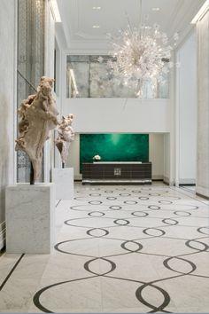 The Waldorf Astoria Chicago's dazzling lobby chandelier