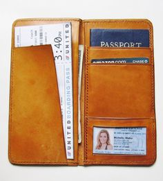 Personalized Passport Boarding Pass Wallet by johnbrandonusa, $99.00