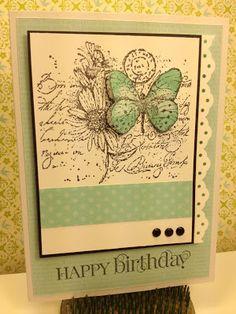 Butterfly Garden Collage Happy Birthday