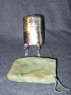 Vintage 1940's Personal Stainless Steel Hand Warmer Made in Hong Kong EUC #Unbranded