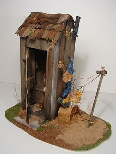 Outhouse 1:12 Scale Dollhouse Miniature | Flickr - Photo Sharing!