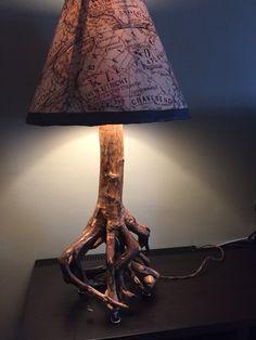 Lámpara de raíz de árbol Bonsai