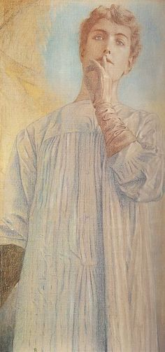 Fernand Khnopff ~ Silence (1890) ~ Royal Museums of Fine Arts ~ Brussels, Belgium