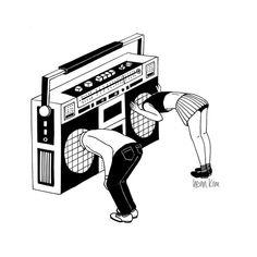 Koning — black and white surreal illustrations by henn kim white art, black white, Radiohead, Camisa Rap, Illustrations, Illustration Art, Henn Kim, Black And White Illustration, Boombox, Grafik Design, Framed Art Prints
