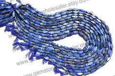 Lapis Lazuli Cut Brick Quality C Pack of 6 by GemstoneWholesaler