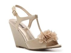 Unlisted Sand Out Wedge Sandal High Heel Sandal Shop Women's Shoes - DSW. Bridesmaids?