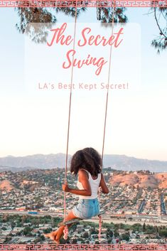 The best kept secret in Los Angeles - the Secret Swing! This hidden gem is perched above the hills and has amazing views of the city! Click the pin to find out where it is! #losangeles #secretswing Los Angeles Travel, Los Angeles Vacation, Los Angeles Food, Downtown Los Angeles, Travel Articles, Travel Advice, Travel Guides, Travel Goals, Travel Tips