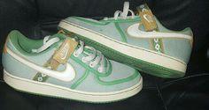 Nike Air Vandal Low Canvas Size 7.5 Womens Youth Green Tan  Nike   BasketballShoes Canvas e4fea868a