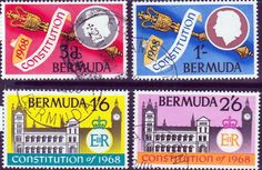 Bermuda 1968 New Constitution Set Fine Mint SG 216 - 219 Scott 222 - 225 Other Bermuda Stamps HERE