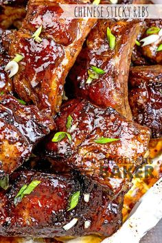 Chinese Sticky Ribs - The Midnight Baker Pork Rib Recipes, Meat Recipes, Asian Recipes, Cooking Recipes, Cooking Tips, Hawaiian Recipes, Picnic Recipes, Smoker Recipes, Food Tips