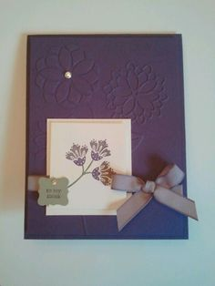 Mother's Day card - Stampin Up - True Friend stamp set.