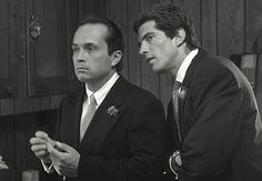 Anthony Radziwill and John F. Kennedy Jr. on Anthony's wedding day. John was best man