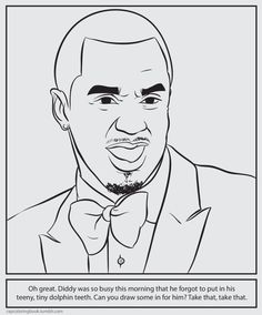 Rap Coloring Book | the bizarre | Pinterest | Coloring books and ...