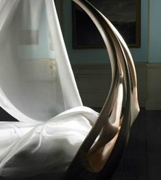 The Shocking Enignum Canopy Master Bed by Joseph Walsh | Discover more: http://masterbedroomideas.eu/