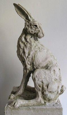 Rabbit clay sculpture by  Tanya Brett