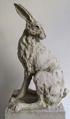 Rabbit clay sculpture by  Tanya Brett  Looks more like a Hare....but who am I to judge Art eee ness
