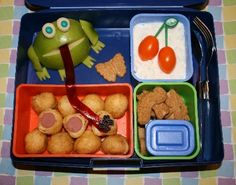 Bento Box! I just bought this for my 26 year old for Christmas. Even adults want to eat good, balanced, FUN foods!!! And with this system, it's EASY!!!!