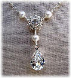 New Swarovski Pearl/Floret/Pear Teardrop by HisJewelsCreations, $48.00