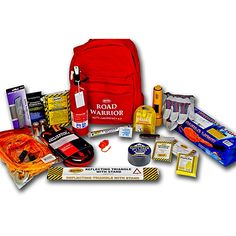 Accidents, breakdowns or weather related events can leave you stranded on the highway miles from help but having the right items can be a life saver. Our 22 piece Mountain Road Warrior Emergency Kit provides all the essential items for most road emergency situations. Easily store this heavy-duty backpack in your trunk and have piece of mind.