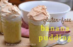 Once you've had this Gluten-Free Banana Pudding you will never go back. My recipe includes a real homemade pudding plus my secret to perfect meringue. - The Seasoned Homemaker