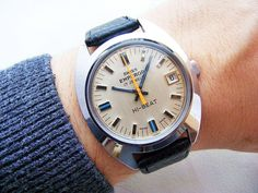 REALLY  70 YEARS SWISS EMPEROR HI-BEAT DATE VINTAGE WRISTWATCH FROM 1970 S!