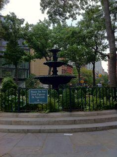 Fountain down in village
