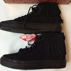 🎉Flash Sale🎉VANs NWB SK8 Suede Moccasin Hi-Tops super fun and very hard to find! NWB black suede SK8 suede moccasin hi-tops. size 6 women's. **price FIRM unless bundled** no trades. 6F1464 Vans Shoes Athletic Shoes
