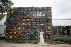 Forget the wedding ^_^  want this as a wall in my garden ~ from: Painter's Palette Wedding · DIY Weddings | CraftGossip.com
