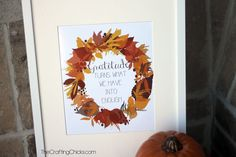 Gratitude Fall Printable. This quote helps me remember that I have enough and I should be grateful for everything I do have.